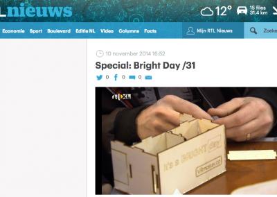 RTL Verslag workshop tijdens Bright Day