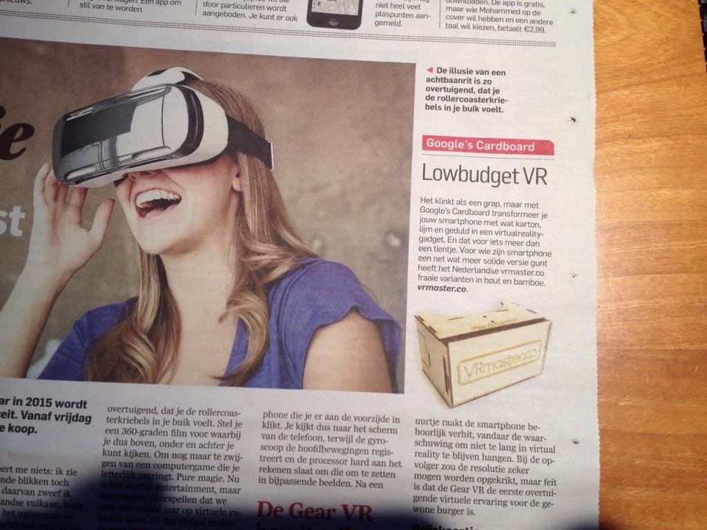 VRmaster vs Samsung Gear in AD