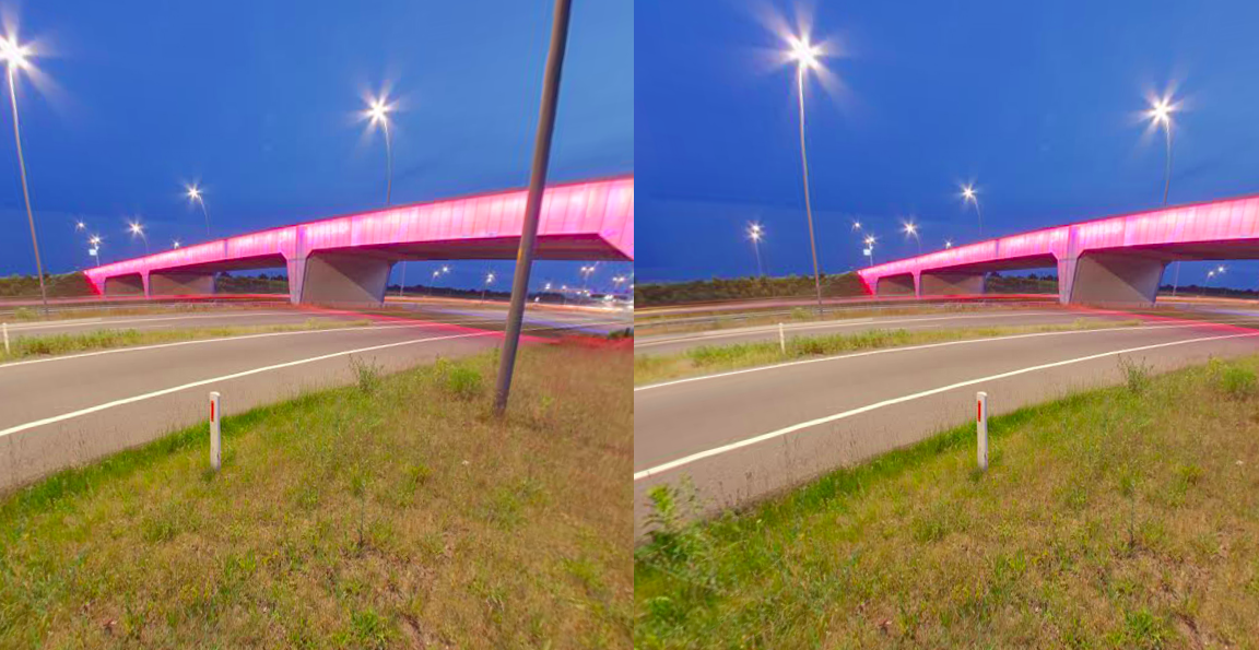 Brainport viaduct by night