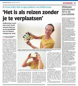Artikel vrmaster in Eindhovens Dagblad