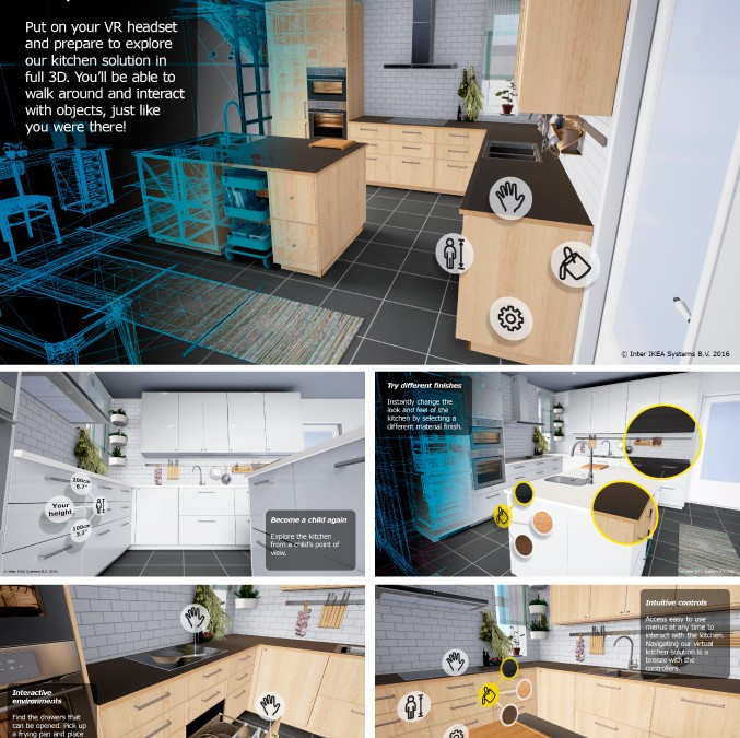 Virtual reality kitchen experience by ikea