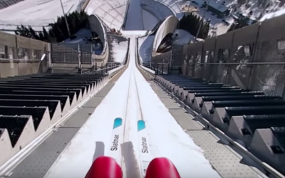 You can become virtual reality ski jumper