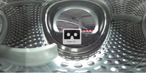 inside a washing machine with vr