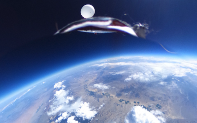 360 camera Theta S in the Stratosphere