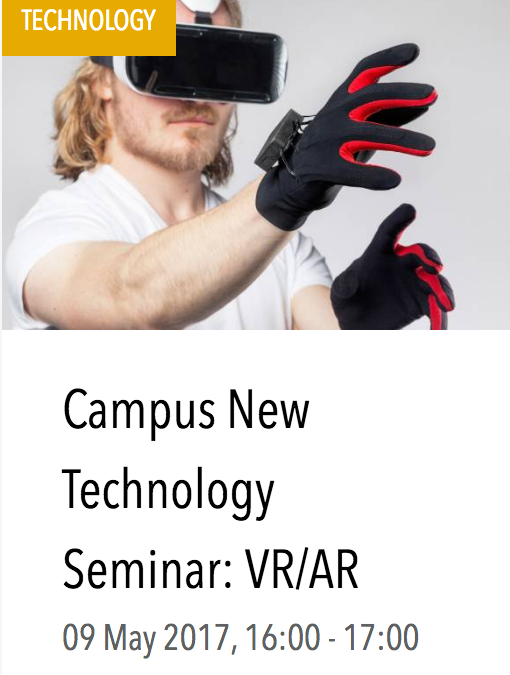 High Tech Campus New Technology Seminar: Virtual Reality