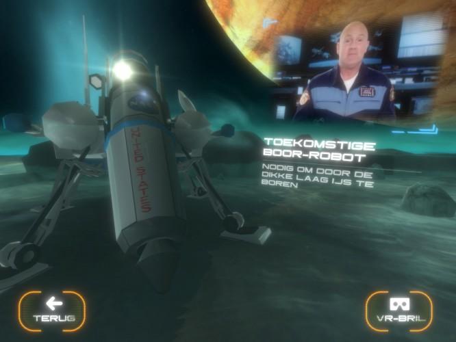 Virtual de ruimte in met Andre Kuipers
