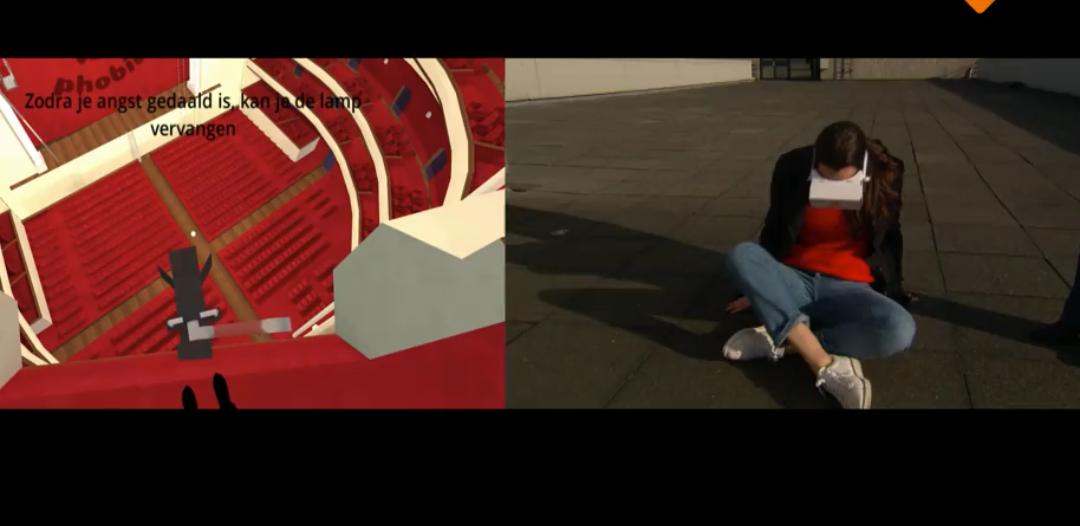 Angst therapie in Virtual Reality met O-phobia en VRMaster cardboards