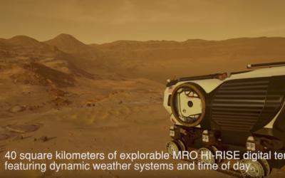 Mars 2030 virtual reality simulation on HTC Vive