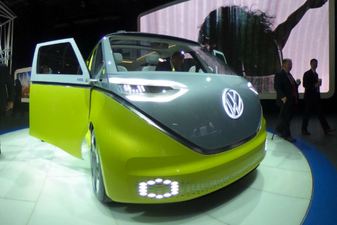 360 virtual reality Look Inside VW I.D. BUZZ minibus Concept
