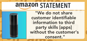 Amazon privacy statement